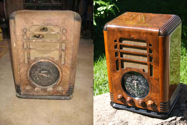 ... cabinetmakers will only repair the cabinet. One is a technical  challenge the other is an art. Each of them can be restored or more simply,  repaired. - RESTORATION - RUSS' OLD RADIOS